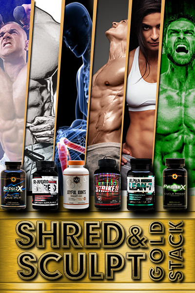 Shred & Sculpt Gold Stack