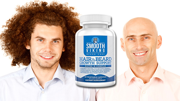 Hair and Beard Support by Smooth Viking – Son of Sasquatch or Mr Clean